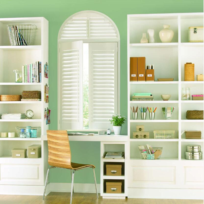Custom Basswood Plantation Shutters  Wooden Blinds Solid Wood Shutter Louver PS222