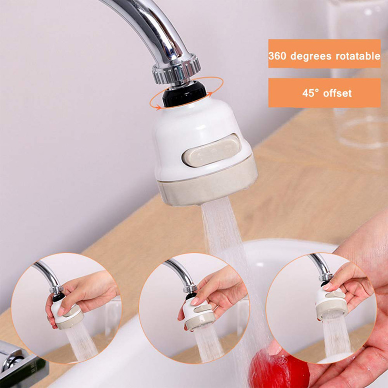 Kitchen Faucet 360 Degree Rotatable Spray Head Tap Durable Faucet Filter Nozzle 3 Modes Tap Nozzle Filter Bathroom Shower Faucet