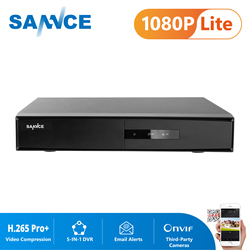 SANNCE 16CH 5-in-1 1080N Surveillance DVR H.265+ Home Security Video Recorder For 720P 1080P Cameras IP Cameras CCTV System DVR