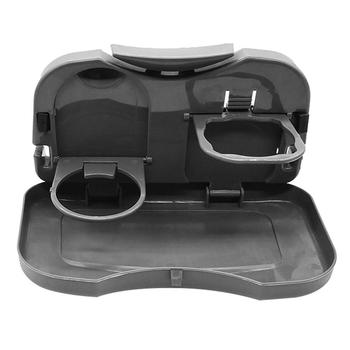 50% HOT SALES!!!Folding Car Travel Back Seat Storage Table Drink Food Cup Tray Holder Stand Desk image