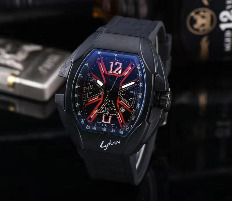 Top Brand Chronograph Mens Watches Luxury Top Brand Quartz Watch Blue Silicone Military Sports Wristwatch Relogios Clock