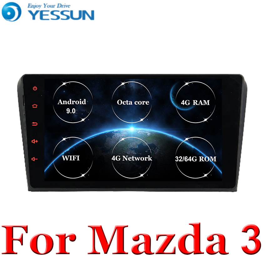 2 Din android 9.0 car <font><b>multimedia</b></font> radio <font><b>For</b></font> <font><b>Mazda</b></font> <font><b>3</b></font> Mazda3 2004 2005 2006 <font><b>2007</b></font> 2008 2009 car dvd gps Navigation stereo Player image
