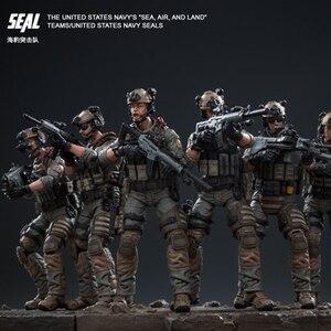 Image 5 - Joytoy 1/18 アクションフィギュア米国海軍シール兵士 (6 ピース/セット) モデルのおもちゃ誕生日/クリスマスプレゼント送料無料