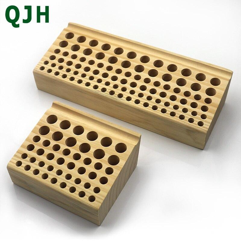 46/98 trous en bois de pin support en cuir artisanat bricolage bourrage poinçonnage organisateur de porte-outils stockage boîte de rangement en cuir outil
