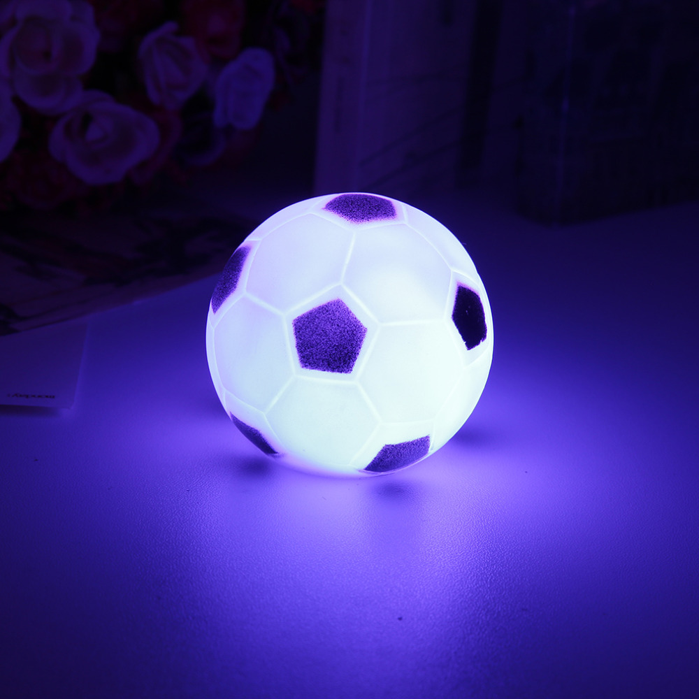 Colors Changing Football LED Night Light Mood Party Christmas Home Decoration Nightlight Lamp Great Gift For Kids