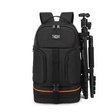 DSLRกล้องวิดีโอกันน้ำกระเป๋าเป้สะพายหลังขาตั้งกล้องW/แถบสะท้อนแสงFit 15.6inแล็ปท็อปกระเป๋าสำหรับCanon Nikon Sony DSLRภาพ
