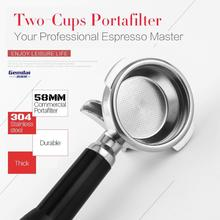Coffee-Machine-Handle Espresso Dual-Baskets PORTAFILTER 58MM with Made by 304-Stainless-Steel