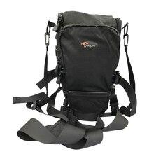 Lowepro Toploader Pro 75 AW Digital SLR Camera Triangle Shoulder Bag Rain Cover Portable Waist Case Holster For Canon Nikon