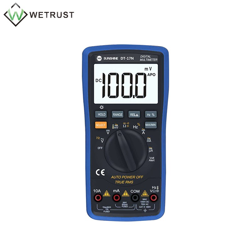 DC SUNSHINE Display 17N Fully And Precision Voltage Resistance AC High Automatic Current Multimeter DT Measurement Digital