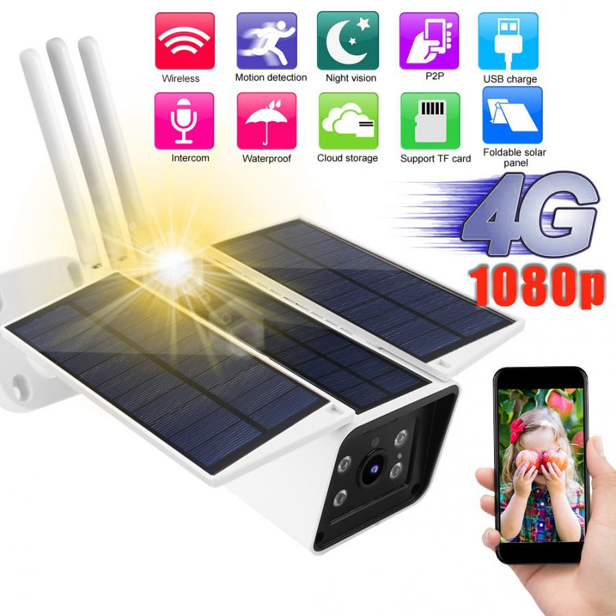 Telecamera IP esterno Wireless 4G Solare 1080P HD