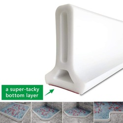 Bathroom Kitchen Water Stopper Dry and Wet Separation Silicone Water Barriers Floor Partition White Strips Tool