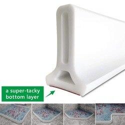 Casa de banho Cozinha Rolha De Água Seco e Molhado Separação Barreiras de Água Partição Chão Branco Tiras de Silicone Ferramenta