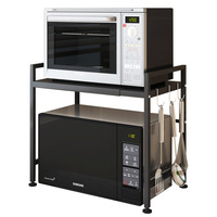 Scalable Microwave Oven Rack Oven Shelf Basket Rice Cooker Storage Rack Pots Spice Dish Rack Plates Organizer Kitchen Organizer