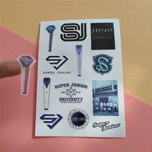 цена на Kpop SUPER JUNIOR New Album Hand Account Sticker SUPER Clap Paper Tape Paper Sticker