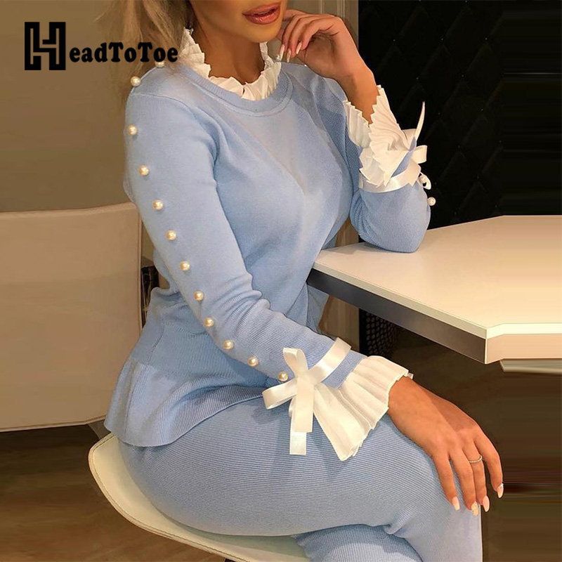 Elegant Bowknot Buttoned Bell Cuff Blouse Women Beading Long Sleeve Casual Blouse Tops Workwear