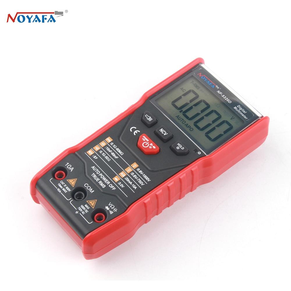 Noyafa NF-5320D 600V Digital Multimeter Ture RMS AC DC NCV Smart Multimetro Tester Ohm Capacitance Hz Voltage Meter