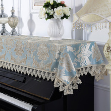 Piano-Cover Cloth Jacquard 1pc Decoration Laced 90x200cm Wedding-Gift Dust-Proof Friend