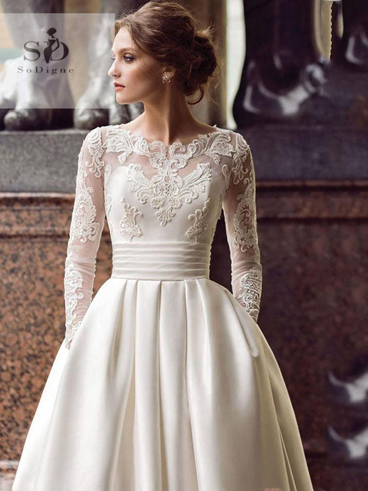 Sodigne 2019 July Wedding Dress Long