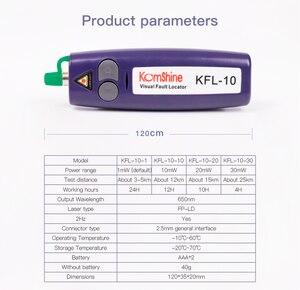 Image 5 - Free Shipping Mini 20mW VFL Optical Fiber Cable Tester  KFL 20 20Km Range 650+10nm Red Light Pen Fiber Optic Visual Fault Finder