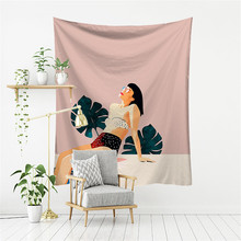 Decorative Tapestry Background Cloth Dormitory Wall Hangings-Room Character Photo Cilected