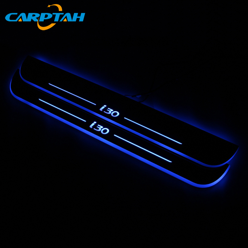 CARPTAH Trim Pedal Car Exterior Parts LED Door Sill Scuff Plate Pathway Dynamic Streamer light For Hyundai I30 2015 - 2017 2018(China)