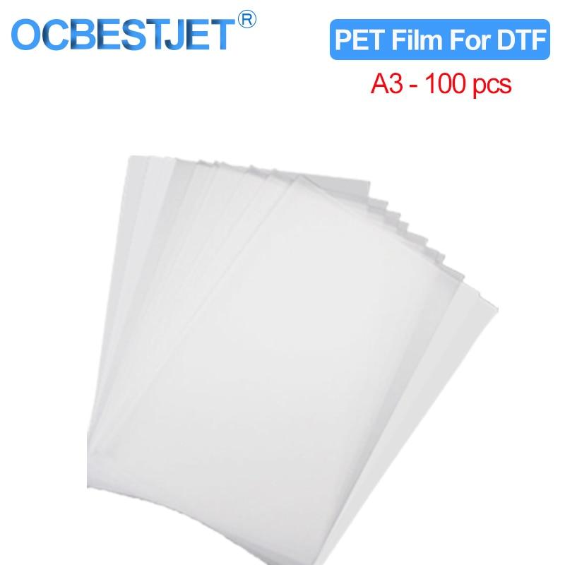 100PC A3 ПЭТ пленка для переноса изображения для прямой передачи пленочной печати для DTF чернильной печати ПЭТ пленочной печати и переноса
