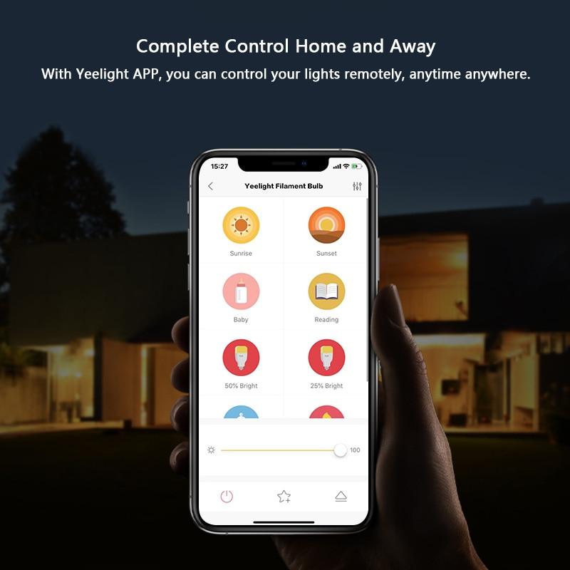 lowest price Yeelight Smart LED Filament Bulb 2020 E27 500lm 6W 220V Dimmable WiFi Smart Warm Light App Control Work with Homekit Google Home