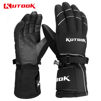 KUTOOK Cold Weather Ski Gloves Thermal Windproof Snowboard Gloves Winter Snowmobile Gloves Touch Screen Protective Gear