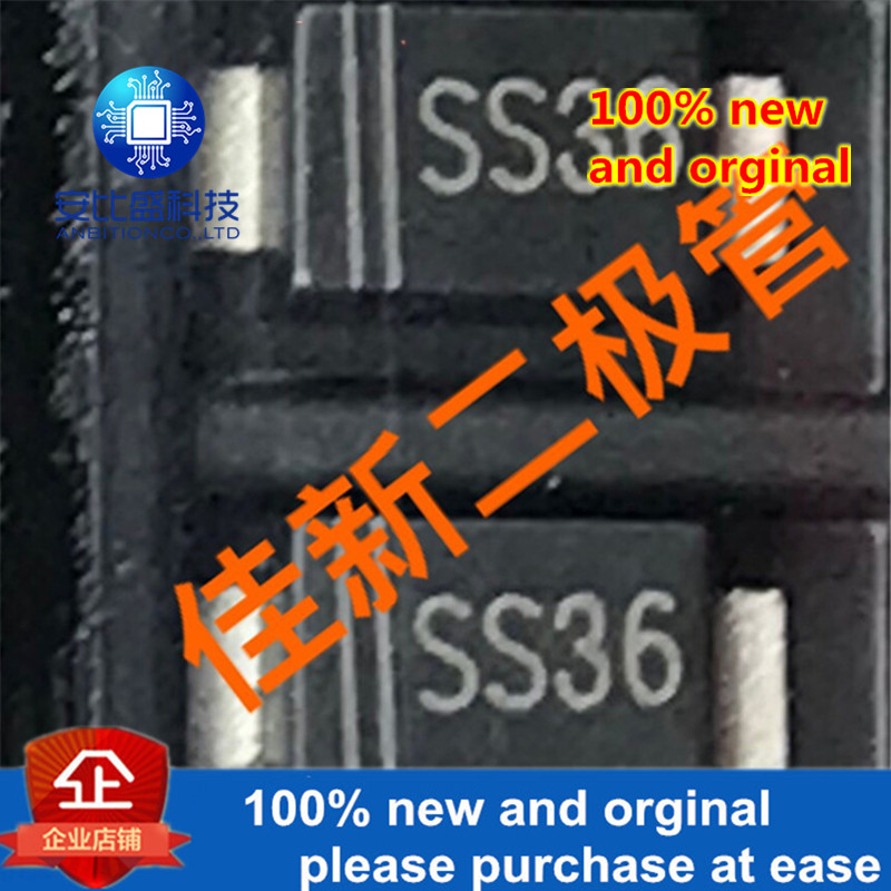 50pcs 100% New And Orginal  SS36AF 3A60V SMAF Silk-screen SS36  In Stock