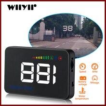 GEYIREN 2018 A500 HUD Alarm przekroczenia prędkości samochodu Alarm temperatury wody OBDII lub ue interfejs OBD folia odblaskowa samochód stylizacji