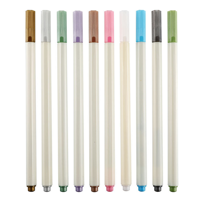 10 Color Fabricolor Write Brush Pen Calligraphy Paint Marker Pens Set Drawing Painting Watercolor Art Brush Pen 04429 5