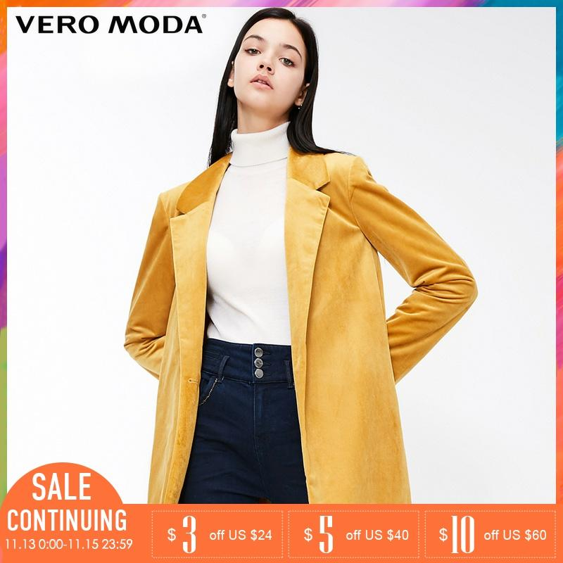 Vero Moda Lapel Collar Long Sleeve Loose Coat Jackets | 318408504