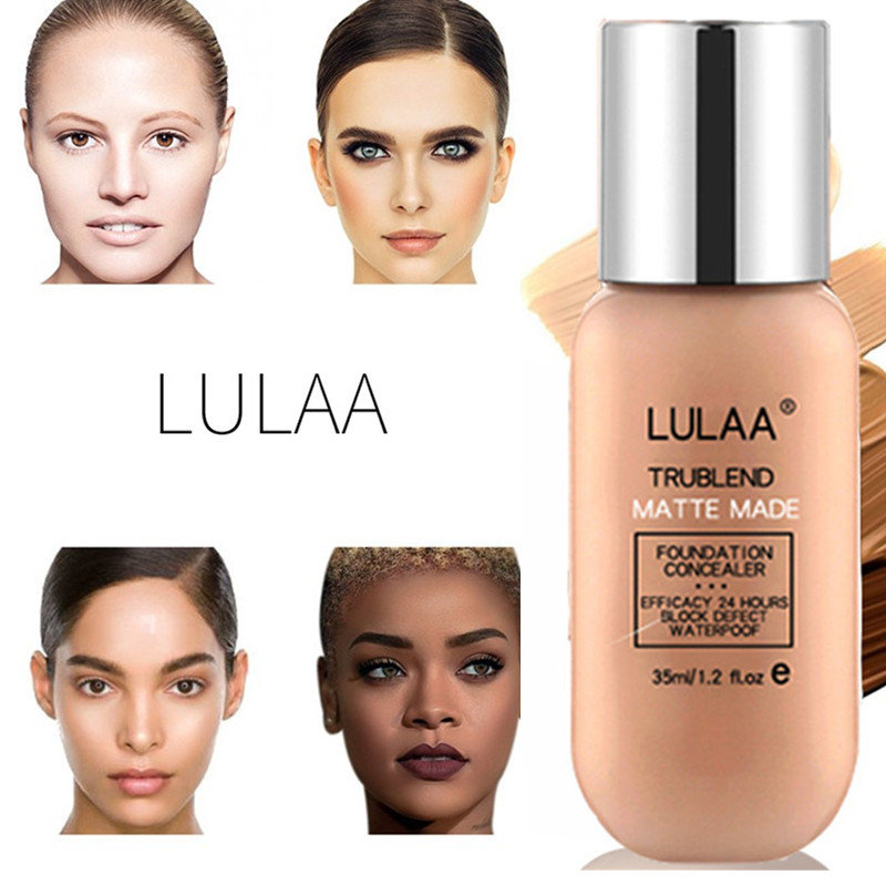 Make Up Face Foundation Tlm Foundation Color Changing Foundation Cream Enough Collagen Moisture Base Dark Skin Liquid Mineral image