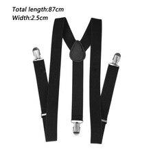 Unisex Adjustable Brace Clip-on  Pants Braces Straps Men Women Fully Elastic Y-back Suspender Belt