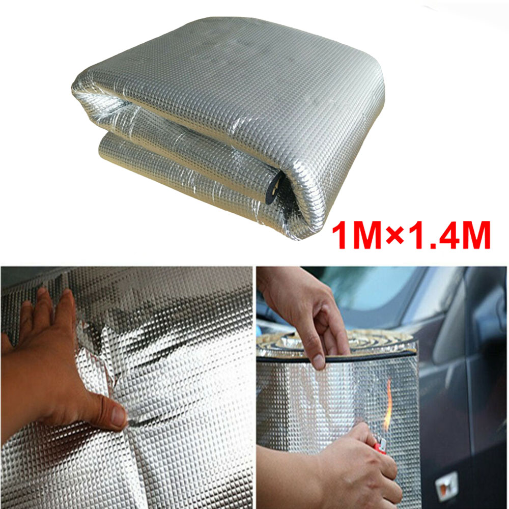 1M*1.4M*5MM Car Thermal Heat Insulation Covers Mat Accessories Auto Thermal Non-combustible Flame Retardant Insulation Cotton