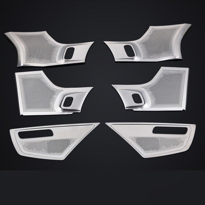 Acoustic speaker decoration stainless steel auto parts Car stickers Door Door Horn for volvo XC90 2015 2016 2017 2018 2019 2020