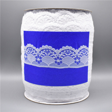 Wholesale 300yards/Roll White Lace Ribbon Tape Wide/40mm Lace Trim Embroidered Sewing African Lace Fabric Lace Applique Material
