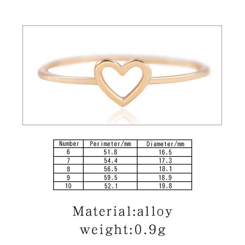 Modyle 2019 ใหม่แฟชั่น Rose Gold สีรูปหัวใจงานแต่งงานแหวนผู้หญิง Dropshipping
