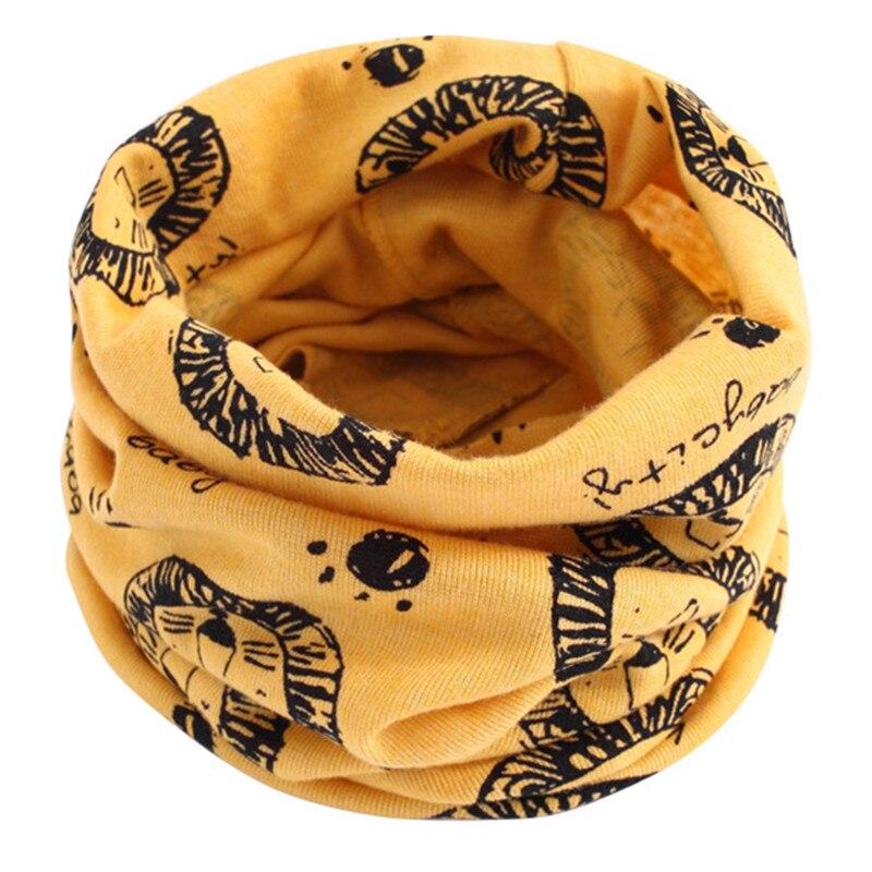 Весенний детский хлопковый шарф, теплый шарф для маленьких детей, осенне-зимние шарфы с героями мультфильмов для мальчиков и девочек, детский воротник с круглым вырезом, волшебный шейный платок - Цвет: 45