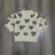 סתיו/חורף ולנטיין התינוקות בנות בגדי תינוקות למעלה אהבת לב צורת סוודר בז כותנה ארוך שרוול ראפלס