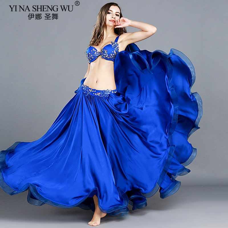 Image 5 - Adult Professional Belly Dance Costumes Ladies Elegance Oriental Dance Set Bellydance Top Bra Long Skirt Suit Outfits For WomenBelly Dancing   -