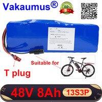 48V סוללה 8Ah 18650 נטענת ליתיום סוללה מובנה 15A BMS עבור 350w 500w poweful אופניים חשמליים ebike Vakaumus