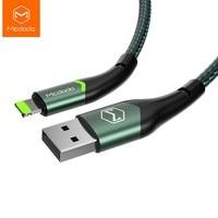Mcdodo Cable USB 2A de carga rápida para Lightning IPhone 12 11 Pro Max XS XR X 8 7 6 Plus IPad IPod IOS 14 cargador de datos Cable LED