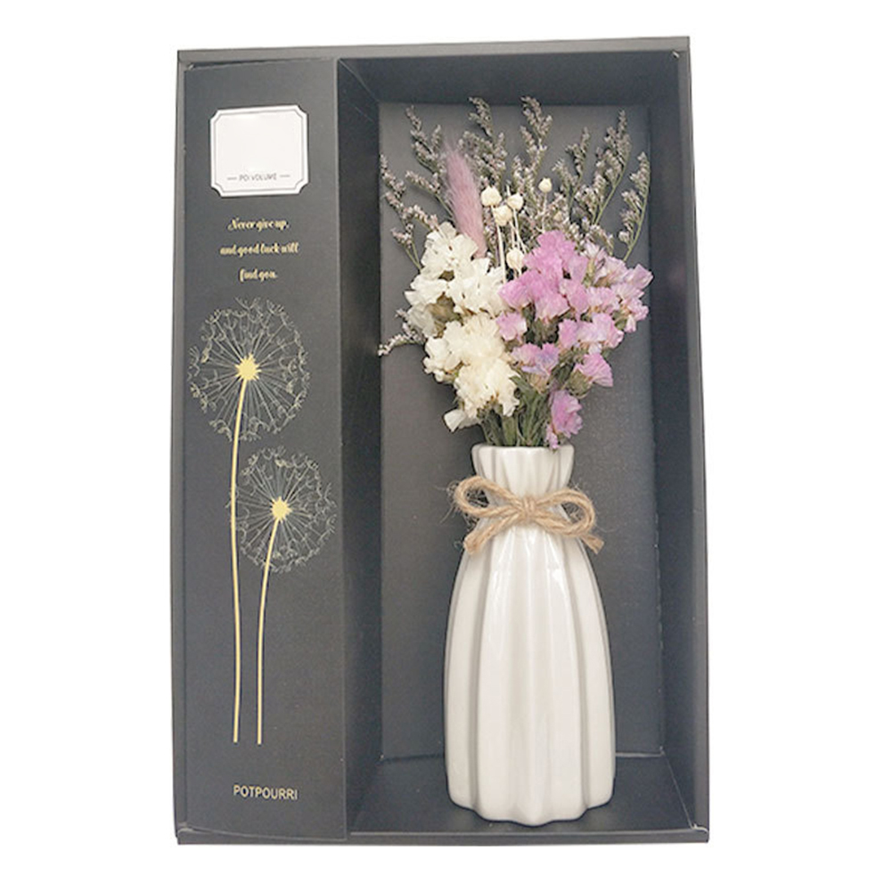 Vase with Dry Flowers Aroma Essential Oil Diffuser Set -