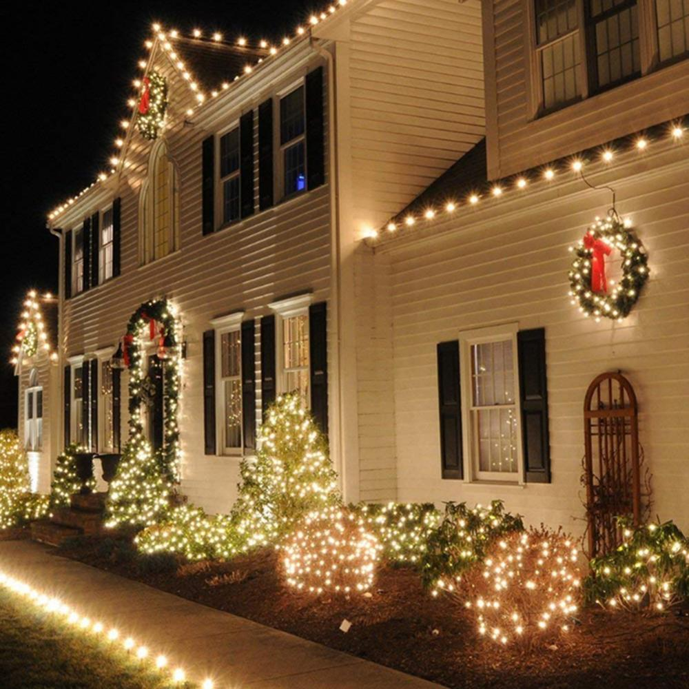 Christmas Garland LED Curtain Icicle String Light 220V 10M 100Leds Indoor Drop LED Party Garden Stage Outdoor Decorative Light