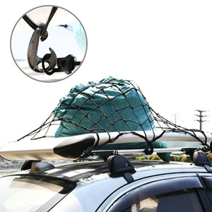 Image 2 - Universel voiture coffre bagages rangement Cargo organisateur filets 120x90cm élastique maille filet avec crochets Auto intérieur accessoires