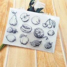 11*16cm venda quente cesta de frutas selo transparente selo transparente selo de silicone selo de rolo diy scrapbook álbum/cartão produção