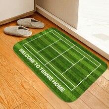 Новый фланелевый влагопоглощающий нескользящий коврик с принтом для теннисной площадки, домашний коврик, коврик для ванной, коврик для бал...