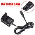15 в 0.36A бритва зарядное устройство кабель Шнур ЕС вилка бритва адаптер питания для Philips HQ6425 HQ6426 HQ6465 HQ6851 HQ6852