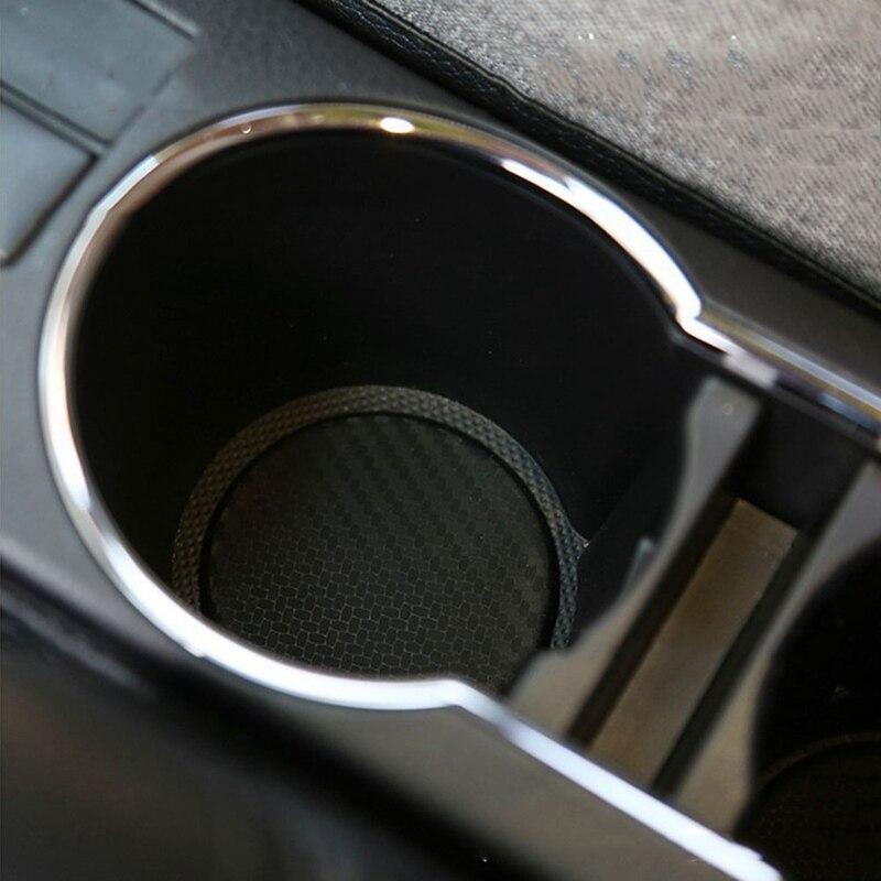 2pcs Lot Car Silicone Water Cup Slot Non Slip Pad Carbon Fiber
